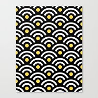 Scallop 1 Black Canvas Print