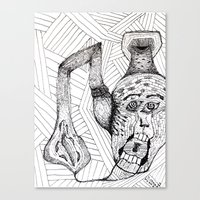 Screaming Face Canvas Print