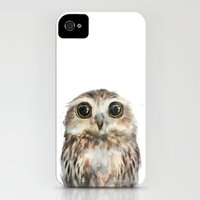 iPhone 4s & iPhone 4 Cases featuring Little Owl by Amy Hamilton