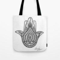 Hamsa Hand Illustration … Tote Bag