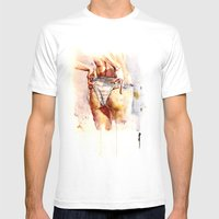 August Mens Fitted Tee White SMALL