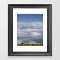 The City Under The Cloud… Framed Art Print