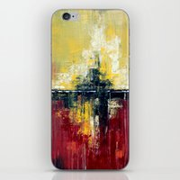 Shanghai - Textured abstract painting iPhone & iPod Skin