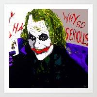 joker Art Prints featuring joker by Saundra Myles
