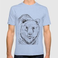 Bear Mens Fitted Tee Tri-Blue SMALL