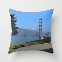 Golden Gate Bridge from the Presidio Throw Pillow