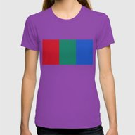 Flag Of Mars - High Qual… Womens Fitted Tee Ultraviolet SMALL