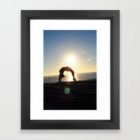 Acrobatics Framed Art Print