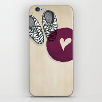 Zebra shoes iPhone & iPod Skin