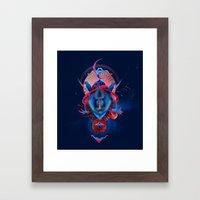 Blue Gibbon Framed Art Print