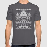 Let It Go Sweater Mens Fitted Tee Asphalt SMALL