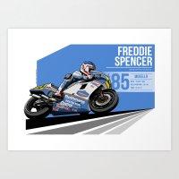 Freddie Spencer - 1985 M… Art Print