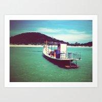Longboat, Thailand Art Print