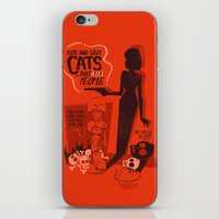 Cat Movie - orange iPhone & iPod Skin