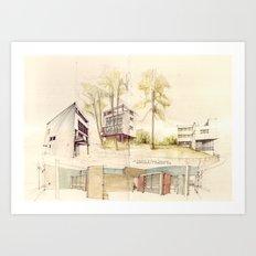 Le Corbusier, Weißenhofsiedlung Art Print