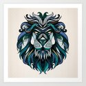 Blue Lion Art Print