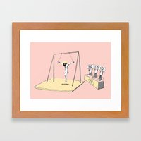 Jesus Goes For Gold! Framed Art Print
