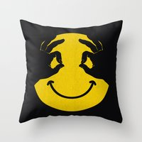 Make You Smile Throw Pillow