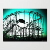 Wild Cat Roller Coaster Canvas Print