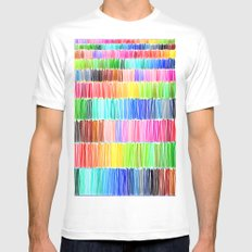 PRISMATIC RAINBOW SMALL White Mens Fitted Tee
