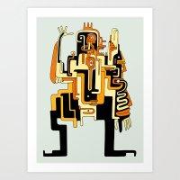 Dimensional Beings Art Print
