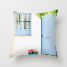 Blue and light Throw Pillow