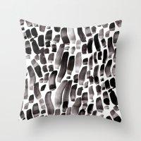 Ink Dance Throw Pillow