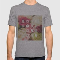 love love love Mens Fitted Tee Athletic Grey SMALL