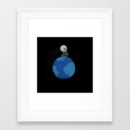 Moon Cycle Framed Art Print