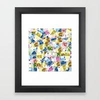 Colorful Euros Pattern Framed Art Print