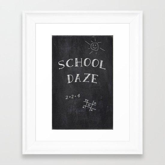 School Daze Framed Art Print
