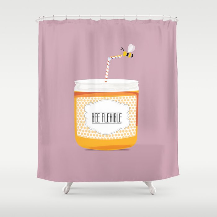 Bee flexible shower curtain by society6 for A bathroom item that starts with g