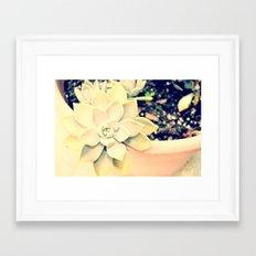 WhiteFlower Framed Art Print