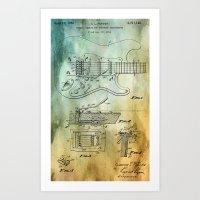 Tremolo patent Art Print