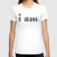 I AM Womens Fitted Tee White SMALL