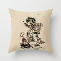 How To Trick A Zombie Throw Pillow