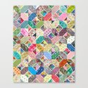 Betty's Diamond Quilt Canvas Print