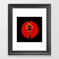 Sexy Witch Framed Art Print