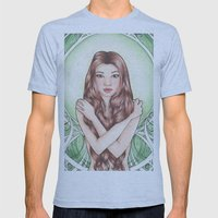 Green Mens Fitted Tee Athletic Blue SMALL