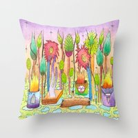Dream Garden 2 Throw Pillow