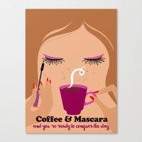Coffee & Mascara Canvas Print