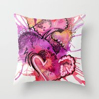 Six Valentines Throw Pillow