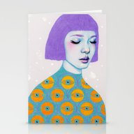 Stationery Cards featuring The Observer by Natalie Foss