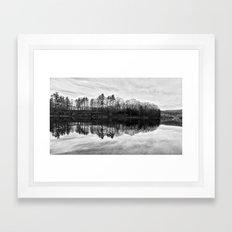 Rivers Reflection Framed Art Print