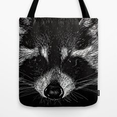 The Curious Raccoon Tote Bag