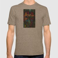 Face#4 Mens Fitted Tee Tri-Coffee SMALL