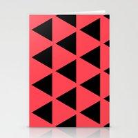 Sleyer Black On Pink Pat… Stationery Cards