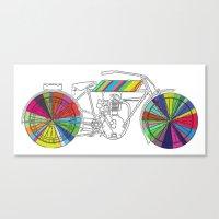 Rainbow Cycle Canvas Print
