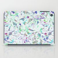 Marbled in blues iPad Case