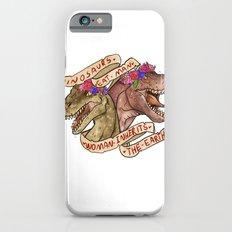 Dinosaur Eat Man. Woman Inherits the Earth iPhone 6 Slim Case